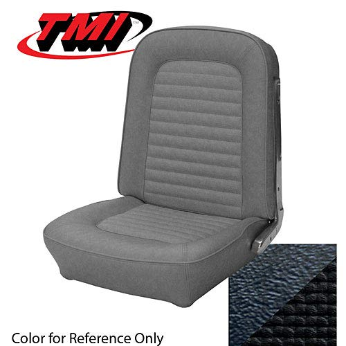 TMI Products 10002080 Stock Seat Upholstery 1966 Mustang Coupe/Bronco Black Viny