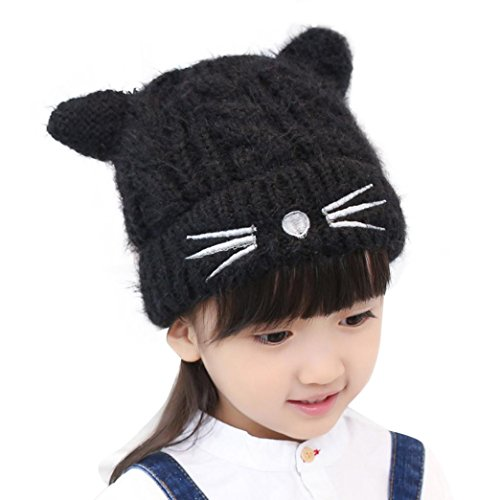 TAORE Cute Baby Girl Toddler Kids Cat Pattern Beanie Knitted Winter Warm Hat Cap (The Cat In The Hat Costume Pattern)