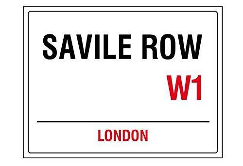 Savile row london england street road sign shabby chic vintage style acrylic keyring key - The Row London