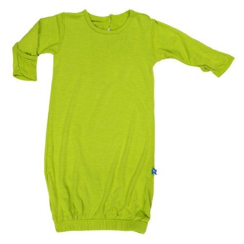 Apparel Layette (Kickee Pants Baby Basic Layette Gown Prd-kplg203-mw, Meadow Newborn)