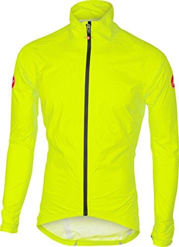 Castelli Emergency Rain Jacket - Men's Yellow Fluo, (Castelli Cycling Jacket)