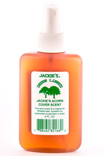 Jackies Deer Lures Acorn Cover Scent Sprayer, (Deer Cover Scents)