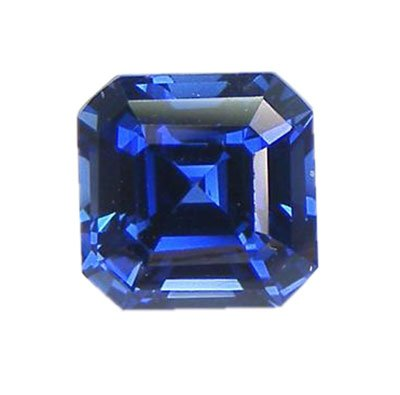Blue Created Sapphire Square Octagon 9mm from uGems