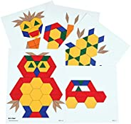 Learning Advantage Pattern Block Activity Cards - In Home Learning Activity for Early Math & Geometry - Se