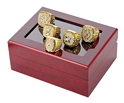Budazo Men's Super Bowl Dallas Cowboys Full Set Championship Rings,Gold,Size 13 (Championship Rings Size 13)