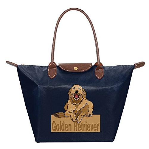 Retriever Tote Bag (Ladies Golden Retriever Large Tote Bags,Multifunction Waterproof Shoulder Handbags With Zipper)