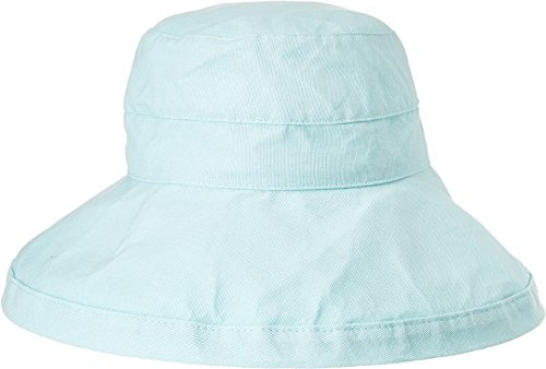 Scala Women's Cotton Hat with Inner Drawstring and Upf 50+ Rating,Aqua,One Size
