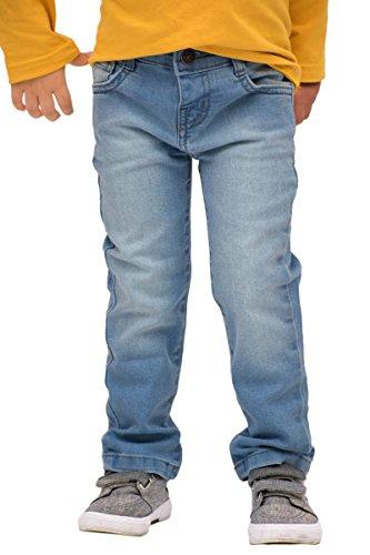 Pulla Bulla Toddler Boy Premium Jeans Denim Pants Size 4T Medium Wash (Pocket Pant Denim Zipper)