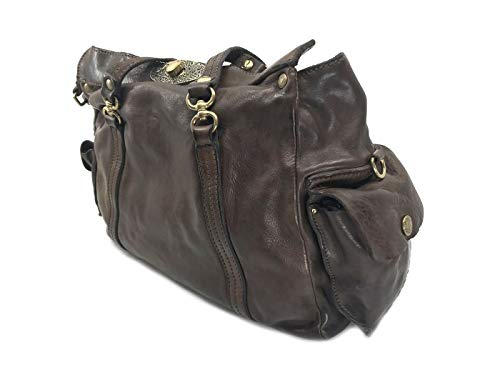 In Bauletto C009320 Brown 0001 Campomaggi Dark Pelle Moro Borsa qTxCw