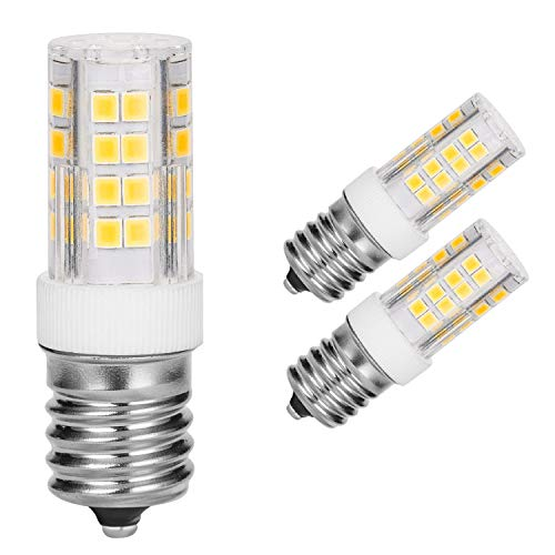 Microwave Oven Appliance 4W E17 LED Bulb (40W Halogen Bulb Equivalent) Non-Dimmable Daylight White Ceramic Body Microwave Oven Light Bulb (Pack of 2) ()