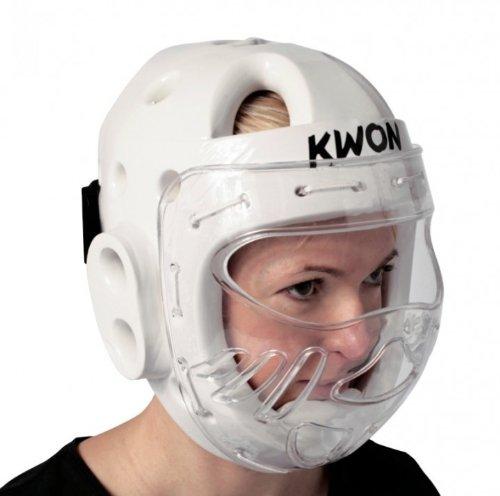 'Kwon KSL–Protector de cabeza , Con Visera, varios. Colores Kwon Blanco M 4006902