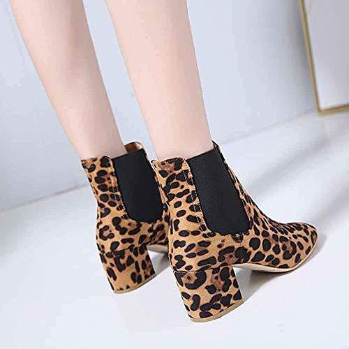 D'hiver Marron Pour 38 Talons Boots Femme Classique Eu Vert Hauts Casual Zhrui Bottines Automne Chaussures Taille Couleur Avec qHEtwT