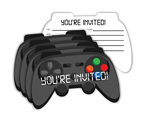 Video Gaming Game Controller Birthday Party Invitations & Envelopes Value Pack (20 Count) Game Invitation