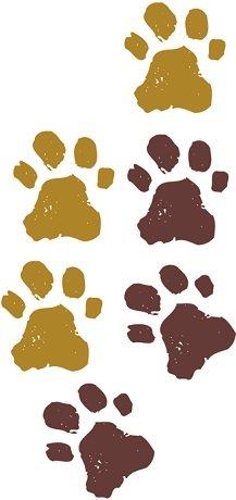 6 pcs Simba Paw Prints Pawprints Tracks Cub Disney The Lion King Movie Animal Removable Peel Self Stick Adhesive Vinyl Decorative Wall Decal Sticker Art Kids Room Home Decor Girl Boy 1 x 1 inch]()