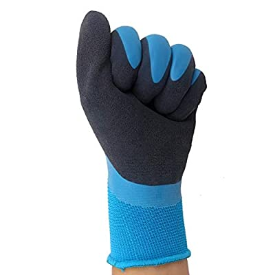 Cold Weather Work Gloves, Double Coating Non-Slip Water-Proof Winter Gloves, Polar Fleece Liner Warm Comfortable for Garden Fishing Snow Outdoor Activities.