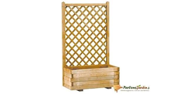 Burger - Jardinera rectangular de madera con espaldar vertical: Amazon.es: Jardín