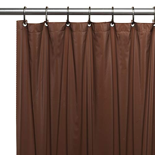 Sweet Home Collection Shower Curtain Liner, Standard Size, Super Heavy 10 Gauge Vinyl, Mildew Resistant Anti Bacterial, Fashionable with Rust Proof Metal Grommets, Reinforced Header, 70