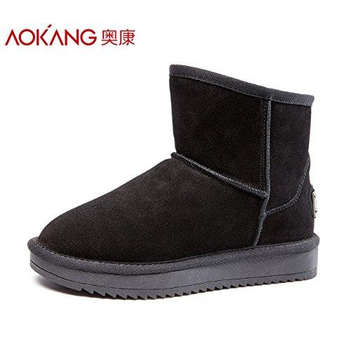 inverno 37 Snow caldo Short Boots spessa Scarpe cotone Aemember l'Autunno Stivali Stivali Donna nero femminile Inverno Boots OqTqZf