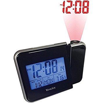 WESTCLOX 72027 Digital LCD Projection Alarm Clock