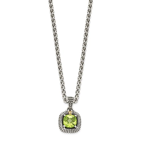 ICE CARATS 925 Sterling Silver 14ky Green Peridot Chain Necklace Pendant Charm Fine Jewelry Ideal Gifts For Women Gift Set From ()