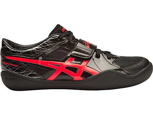 ASICS Men's Throw PRO-M, Black/Flash Coral, 10 M US