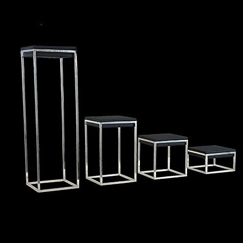 treachi Nieuwste Zilver Rvs Sieraden Display Stand Showcase Zwart PU Lederen Sieraden Display Rack Standhouder