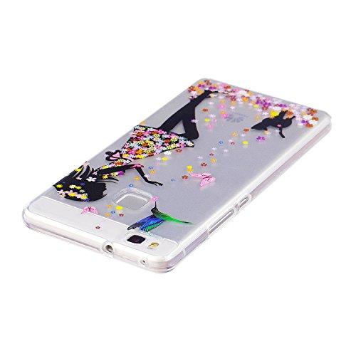 Funda Huawei P9 Lite, P9 Lite Funda Silicona, SpiritSun Soft Carcasa Funda para Huawei P9 Lite (5.2 pulgadas) Ultra Delgado y Ligero Flexible TPU Caja Trasparente Carcasa Case Cristal Gel Protectora C Niña