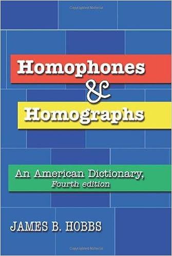 Amazon.com: Homophones and Homographs: An American Dictionary ...