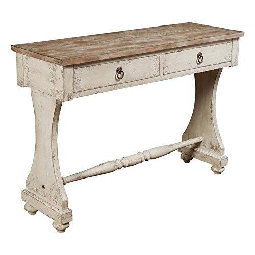 Emma Antique White Finish - Pulaski Emma Console Table with Elm Veneer