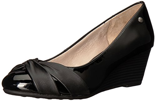 LifeStride Women's Janice Pump, Black, 7.5 W US Wide Dress Pumps