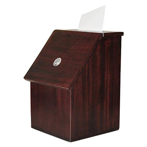 My Charity Boxes Wood Suggestion Box Donation Box