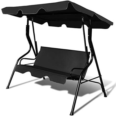 Tangkula 3 Seater Canopy Swing