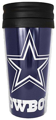 NFL Dallas Cowboys Full Wrap Travel Tumbler, Multicolor, 14 (Dallas Cowboys Black Coffee Mug)
