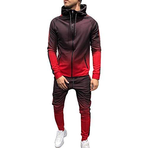Pantalon Gris Ensemble Sweatshirt Survêtement 3d Couleur De Dihope À Fermeture Homme Capuche Sport Imprimé Camouflage Gradient Jogging qa5RTtw