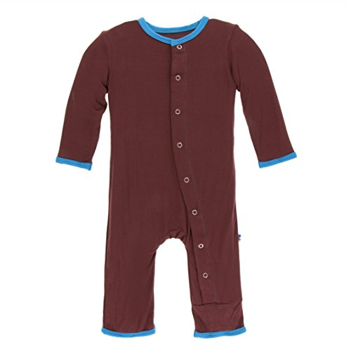 (Kickee Pants Little Boys Solid Coverall with Snaps - Eagle with Amazon, 12-18)
