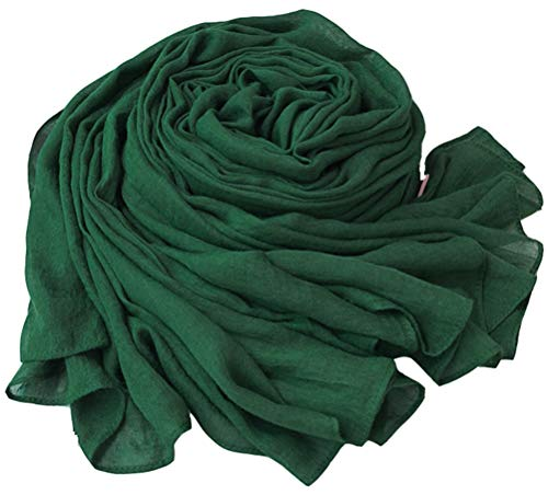 """78"""" 64"""" Oversized Solid CottonLinen Scarfs Wraps Women With Storage Bag 16 Colors"""