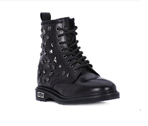 Inverno Black Donna Sabbath Cle103187 Mid Cult Leather Polacco Scarpe 2017 Autunno wFqIz0