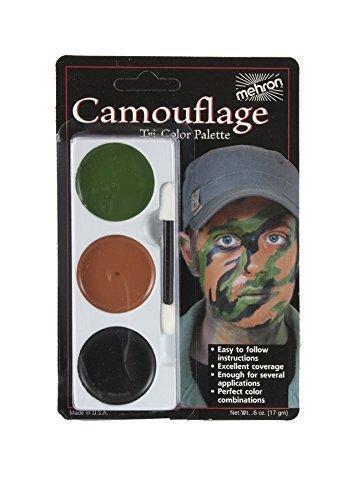 Tri Color Palette Camouflage Makeup Accessory]()
