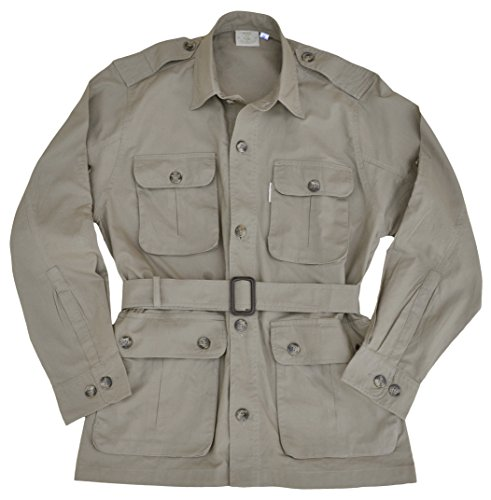 Safari Jacket for Men-Khaki-X Large ()
