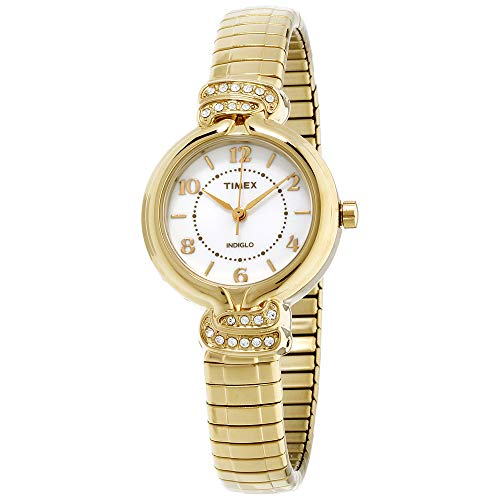 (Timex Women's TW2P613009J Main Street Collection Analog Display Quartz Gold Watch)