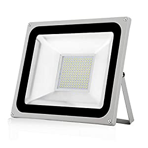 100W LED Floodlight,Waterproof IP65 Outdoor Security Light, 10000LM 6500K Daylight White Outdoor Flood Light Wall Light…