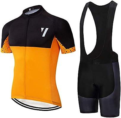 Maillots Ciclismo Hombres Ropa Verano Ciclismo y Pantalones Cortos de Ciclismo Conjunto Ropa Ciclismo al Aire Libre: Amazon.es: Deportes y aire libre