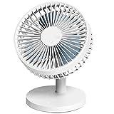 GLJ Usb Small Fan Rechargeable Mini Portable Mute Student Dormitory Office Desk Desktop Fan fan (Color : White)