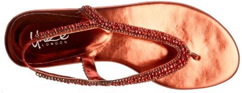 Unze Evening Sandals, Damen Sandalen Rot (L18359W)