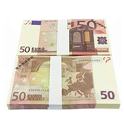 5 10 20 50 100 200 500 EUR Billetes de oro en papel moneda falso de oro de 24K para colección Conjuntos de billetes de euro coloridos 50 EURO 10pcs
