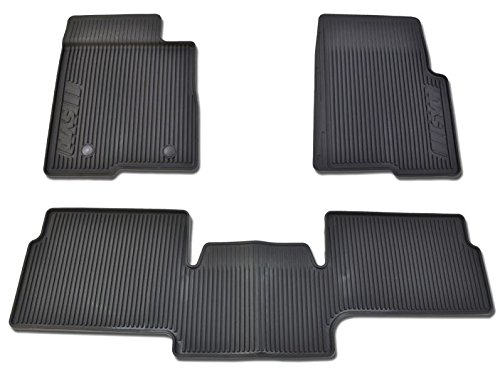 Oem Factory Stock Genuine 2011 2012 2013 2014 Ford F-150 F150 SVT Raptor Supercab Extended Cab Black Ebony Rubber All Weather Floor Mats Set 3-pc Front & Rear