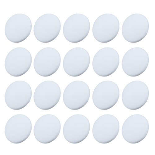 Outus 20 Pieces Door knob Wall Protectors Wall Guards Stoppers Door Handle Bumper Self Adhesive Round Rubber Stop, White ()