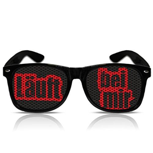 Partybrille Läuft bei mir Funbrille lustiges Fasching Zubehör Karneval Accessoire Fasnachtbrille Läuft bei mir (Nerd schwarz)