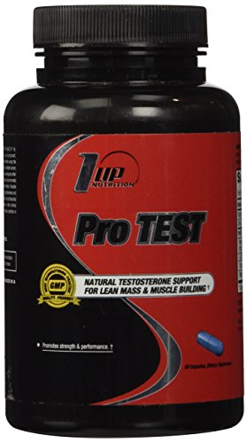1 UP Nutrition Pro Test, Complete Support for Lean Mass and Muscle Building Specifically Designed for Men, 60 Count