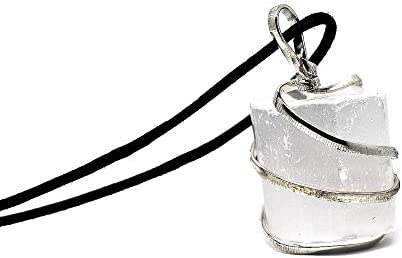 Selenite Necklace Personal Transformation Negativity product image